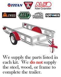 14,000 lb. Tandem Disc Brake Axle Trailer Kit