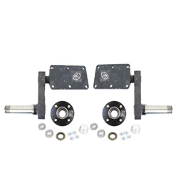 "Adjustable 425 lb. Torsion Half Axles with 4-4"" Bolt Circle Hubs"