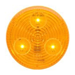 "Amber 2"" Round Sealed LED Marker/Clearance Light"