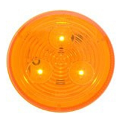 "Amber 2.5"" Round Sealed LED Marker/Clearance Light"