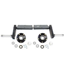 "550 lb. Torsion Half Axles with 5-4.5"" Bolt Circle Hubs"