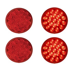 "4"" Round Sealed LED Stop/Turn/Tail Light (21 diodes) Pair"
