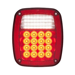 LED Red Combination Tail light 52 Diodes Driver Side w/5-LED license plate