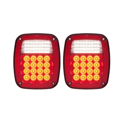 LED Red Combination Tail light 52 Diodes Passenger & Driver Side w/5-LED license plate