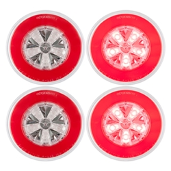 "GloLight® 4"" Round Sealed LED Lights Pair"