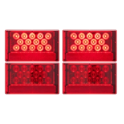 LED Combination Passenger Side & Driver Side w/ 5-LED License Light
