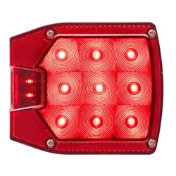 "LED Combination Driver side w/License Plate illuminator  Tail Light for Over/Under 80"" Applications"