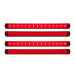 Thinline LED Stop/Turn/Tail Lights Red Pair