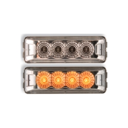 Clear Lens Amber Miro-Flex™ Thin Line Sealed LED Marker/Clearance Light