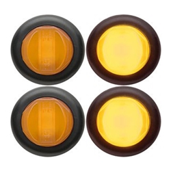 "Amber GloLight™ Uni-Lite™ 3/4"" Sealed LED Marker/Clearance Light Pair"