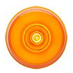 "Amber GloLight™ 2"" Round Sealed LED Marker/Clearance Light"