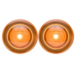 "3/4"" Sealed Amber LED Marker/Clearance Light with Theft-Deterrent Design Pair"