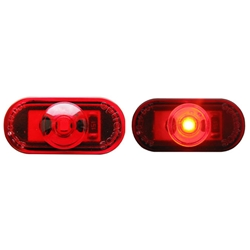 1-LED Mini Red Oval Marker/Clearance Light