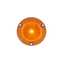 "2.5"" Round Amber Marker/Clearance Light With Locking Clip"