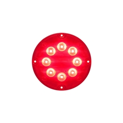 "7"" LED Warning Lights for Surface Mount Red"