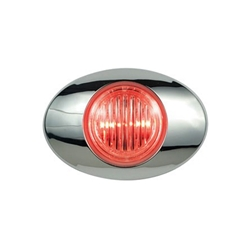 "Clear Lens Millennium Series 3"" Sealed LED Marker/Clearance Light Red"