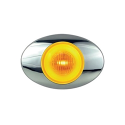 "GloLight Millennium Series 3"" Sealed LED Marker/Clearance Light Amber"