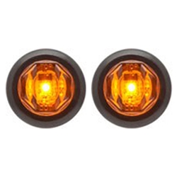 "Amber Uni-Lite™ 3/4"" Sealed LED Marker/Clearance Lights - P2 Pair"
