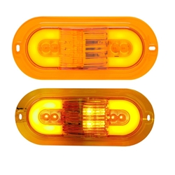 "GloLight 6"" Oval Sealed LED E Rated Mid-Ship Turn Signal and Intermediate Marker Light"