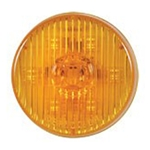 "Amber 2.5"" Round PC-Rated LED Marker/Clearance Light"