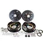 "6-5.5"" Bolt Circle 3,500 lbs. Trailer Axle Electric Brake Kit"