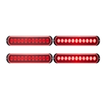 Thin Line, Dual Lens LED Stop/Turn/Tail Light Pair