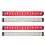 Thinline Clear LED Stop/Turn/Tail Lights Red Pair