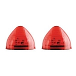 "Red 2"" Beehive Sealed LED Marker/Clearance Light Pair"