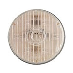 "Clear lens Amber 2.5"" Round PC-Rated LED Marker/Clearance Light"