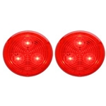 "Red 2.5"" Round Sealed LED Marker/Clearance Light Pair"
