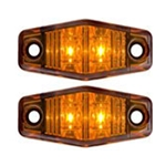 Amber Mini-Sealed LED Marker/Clearance Light Pair