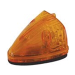 Sealed Amber LED Triangular Cab/Clearance Light - PC Rated