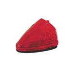 Sealed Red LED Triangular Cab/Clearance Light - PC Rated