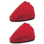 Sealed Red LED Triangular Cab/Clearance Light - PC Rated Pair