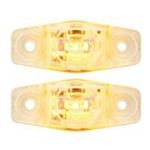Clear Lens Yellow Mini Sealed LED Horizontal-Vertical  Marker/Clearance Light Pair
