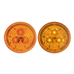 "Amber Miro-Flex™ 2.5"" Round Sealed LED Marker/Clearance Light"