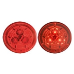 "Red Miro-Flex™ 2.5"" Round Sealed LED Marker/Clearance Light"