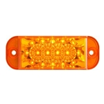 Amber LED Surface MountMarker/Clearance Light - PC Rated