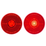 "Red LED 2.5"" Round Marker/Clearance Light with Reflex"