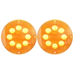 "7"" LED Warning Lights for Surface Mount Amber Pair"