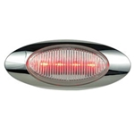 "Clear Lens Millennium Series 6.5"" Sealed LED Marker/Clearance Light Red"