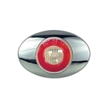 "Clear Lens GloLight Millennium Series 3"" Sealed LED Marker/Clearance Light Red"