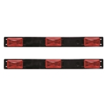 Red Sealed 3-Piece LED Identification Light Bar (3 Diode) Pair
