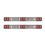 Red Stainless Steel Sealed 3-Piece LED Identification Light Bar Pair