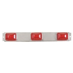 "Red Sealed LED Identification Light Bar for Over 80"" Applications"