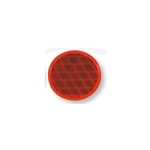 "Red 3"" Self Adhesive Round Reflector"