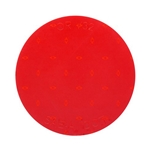 "Red 3"" Round Self-Adhesive Reflector"