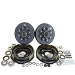 "8-6.5"" Bolt Circle 7,000 lbs. Trailer Axle Electric Brake Kit With Timken Bearings"